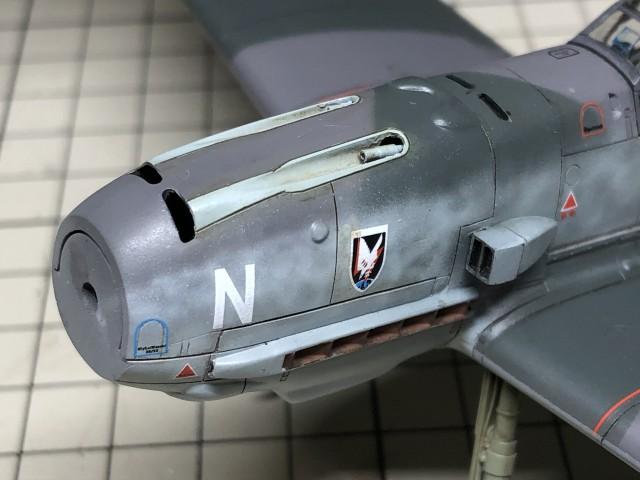 <Bf109 T-2 製作記> カウルカバーの塗分け