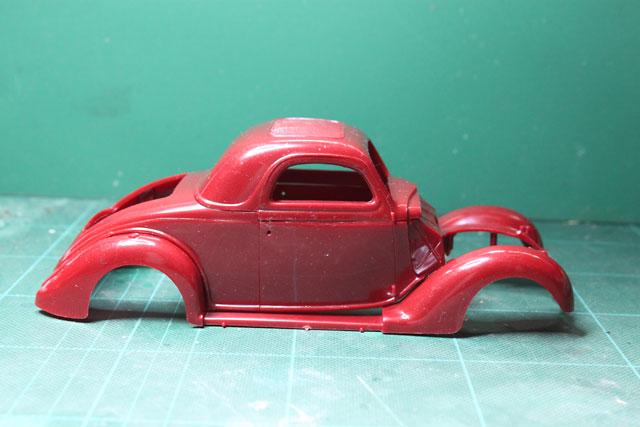 <1936 Ford Coupe 製作記> 形状確認_側面