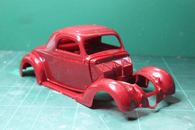<1936 Ford Coupe 製作記> 形状確認_斜め前