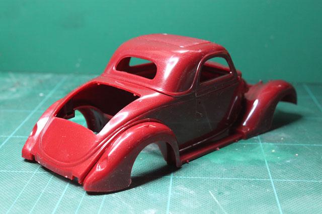 <1936 Ford Coupe 製作記> 形状確認_斜め後ろ