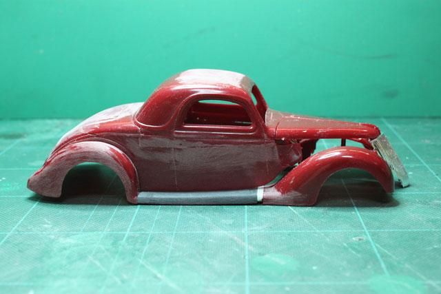 <1936 Ford Coupe 製作記> 形状確認_セクショニング後