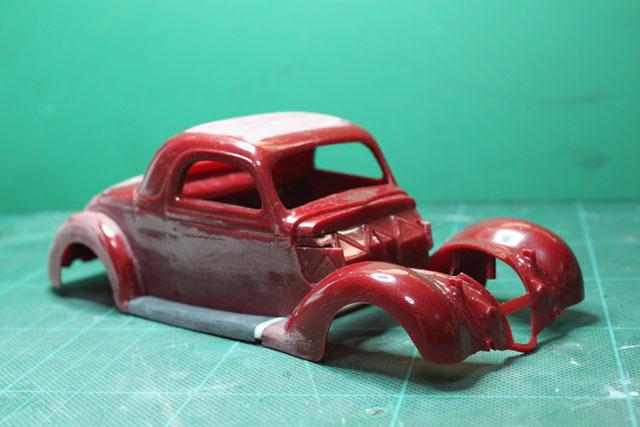 <1936 Ford Coupe 製作記> 形状確認_セクショニング後2