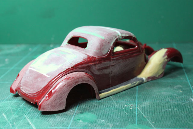 <1936 Ford Coupe 製作記> 形状確認_斜め後ろから