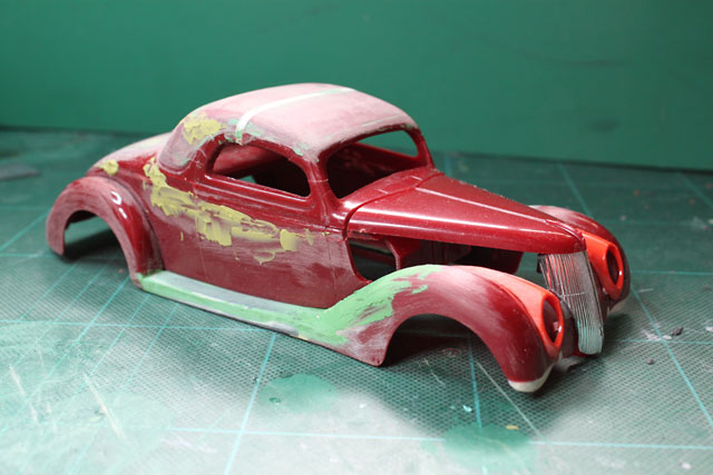 <1936 Ford Coupe 製作記> フロントグリルの仮セット