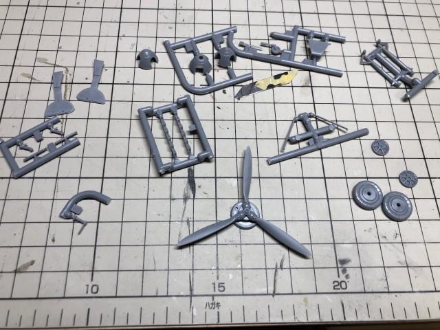 <Bf109 E-4/B 製作記> 残すは細かいパーツ